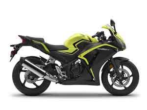 Honda CBR300R Lime Plastics
